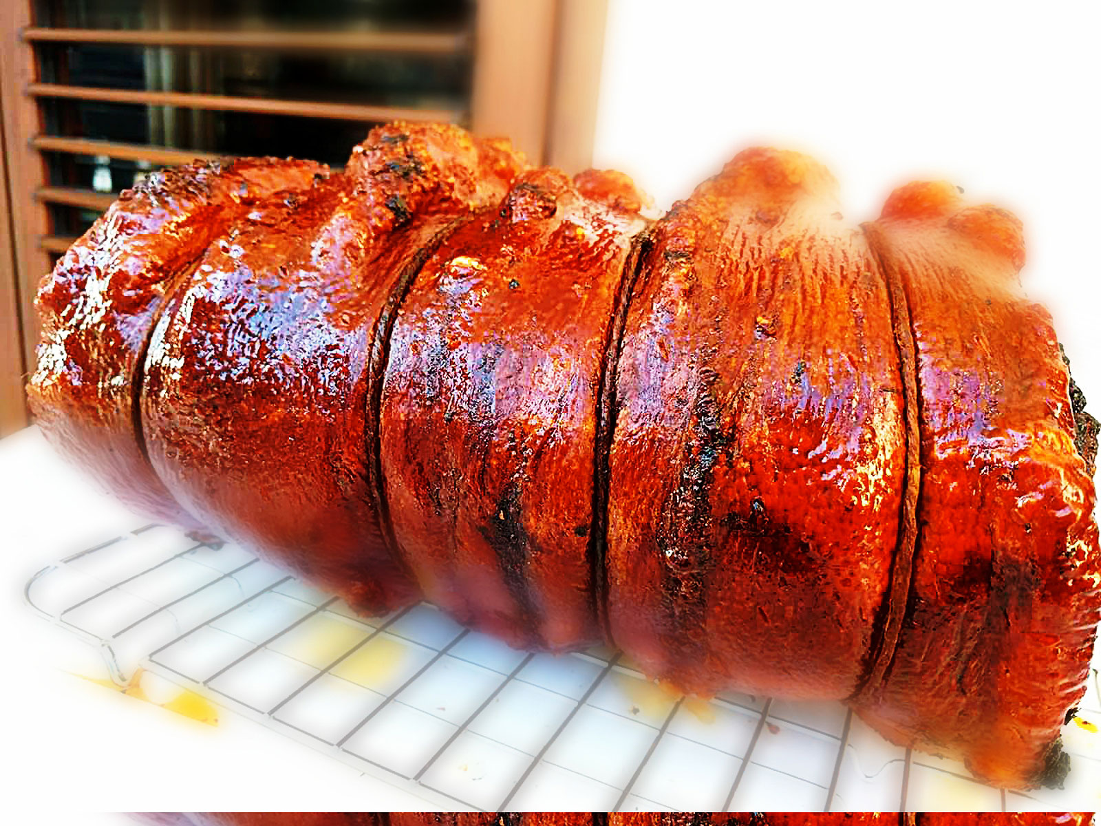 Porchetta al barbecue